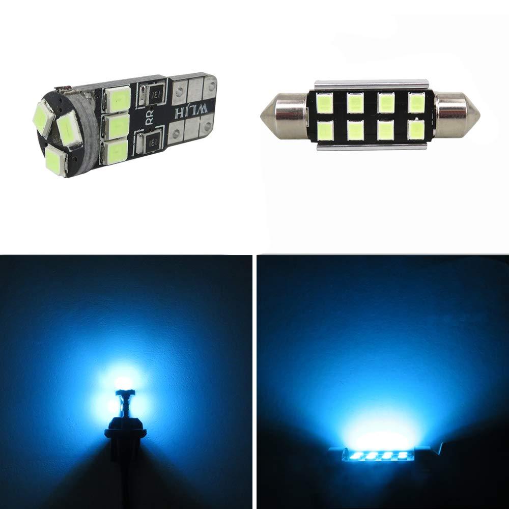 WLJH 17 pcs Blanc LED Ampoules Voiture Auto LED Lumi/ères Int/érieures Accessoires De Remplacement Kit De Kit pour 2004-2010 E60 5 S/érie berlines-2Yrs Garantie