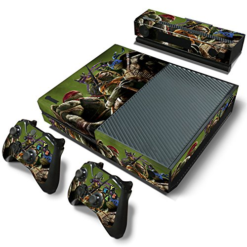 Ambur® Full Protective Xbox One Skin with 2PCS Protective Vinyl Skin Decals Cover for Microsoft Xbox One Controllers ( ninja turtles Design)