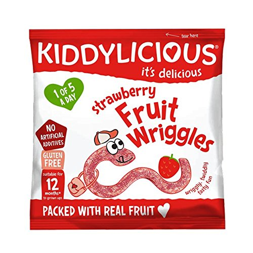 Kiddylicious Strawberry Wriggles 12g, (Pack of 18)