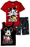 Disney Toddler Boys' Mickey 3 Piece Short Set, Red, 3T