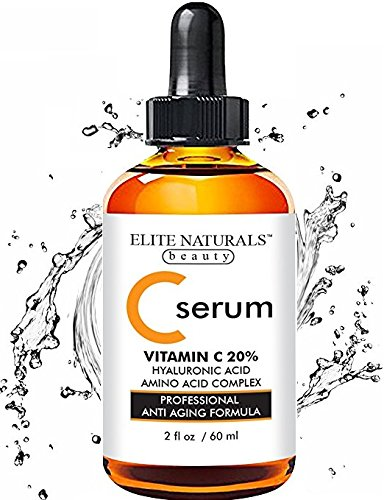 Best Organic Vitamin C Serum For Face   Big 2 Oz Bottle   Hyaluronic Acid 20  C   E   All Natural Anti Aging Skin Care Facial Serum To Repair Sun Damage  Dark Circles  Age Spots  Wrinkles   Fine Lines