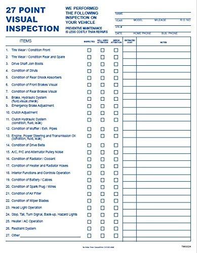 27 Point Automotive Service Inspection Forms