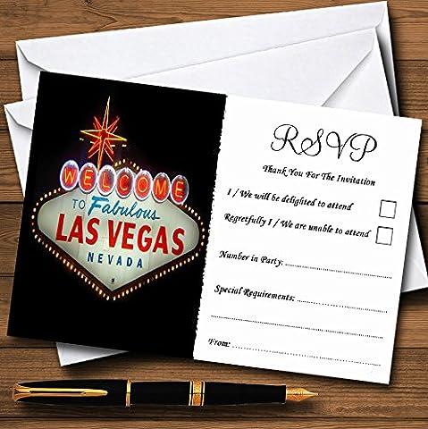 Las Vegas Sign Fabulous Personalized RSVP Cards - Las Vegas Wedding Invitation Wording