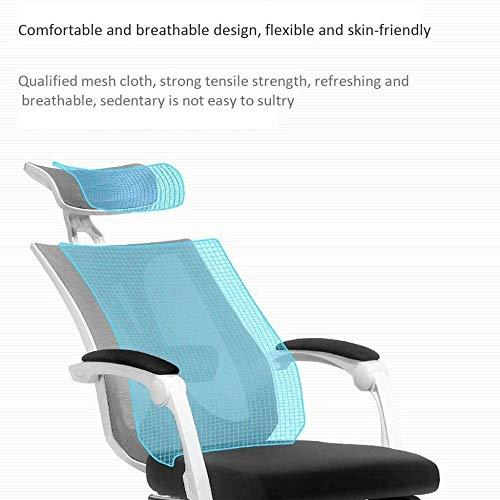 Kontorsstol ergonomisk svängbar stol skrivbordsstol datorstolar, efter att stödet ligger 150 °, 360° rotation fåtölj
