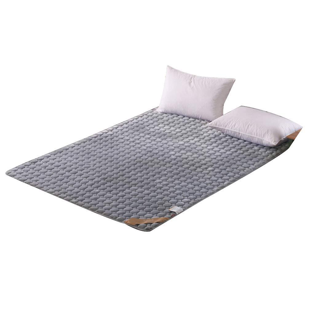 Lightgrey 150x200cm Thickened Folding Velvet Tatami Floor Mattress Pad, Super Soft Thicken Single Double Non-Slip Hotel Bed Mattress Predection Futon Mattresses - 180x200 cm (71x78 Inches),Purple,150x200cm