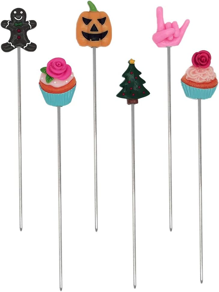6Pcs Cake Tester Probe Cake Bread Pastry Biscuit Cookie Muffin Baking Cooking Stainless Steel Long Tester Skewer Sticks Tool