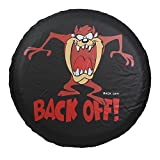 """Best Toyota Tire Covers - Spare Tire Cover """"Back Off"""" Monster PVC Leather Review"""