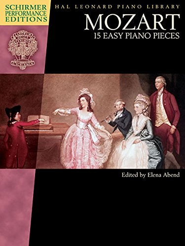 Mozart - 15 Easy Piano Pieces Schirmer Performance Editions Book Only (Tapa Blanda)