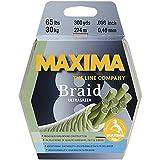 Maxima Braid 8 Fishing Line, 300 Yard Spool, 65 lb. Ultragreen