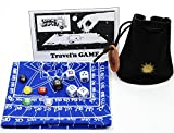 Cosmic Wimpout Deluxe Travel'n Game _ with BLUE Cloth Scoreboard _ bonus 5 glass gemstone markers