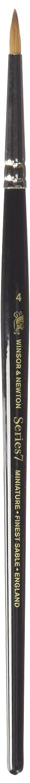 ウィンザーとニュートンシリーズ7ミニチュアチョウセンイタチクロテン水彩ブラシサイズ4 #4  B00369S6OO