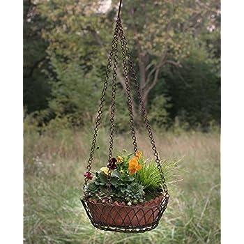 Amazon Com Two Tier Hanging Terra Cotta Pots Garden