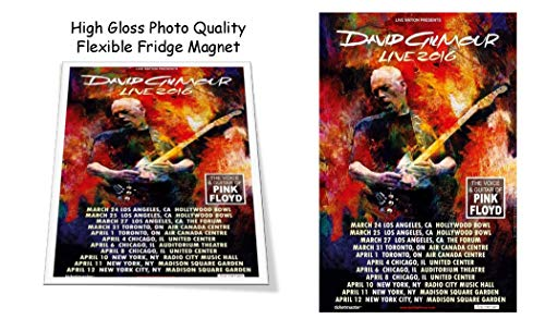 David Gilmour of Rush 2016 Concert Poster 3