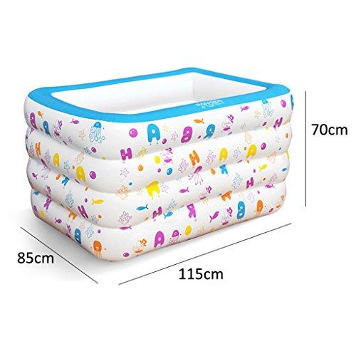 SYF Bathtub Foldable PVC Inflatable Pool Baby Bathtub Children Baby Pool Home Thickening Bathtub Comfortable Newborn Bathtub 115X85X70/140X100X70cm A+ (Size : 115X85X70cm) by Bathtub YAN (Image #1)