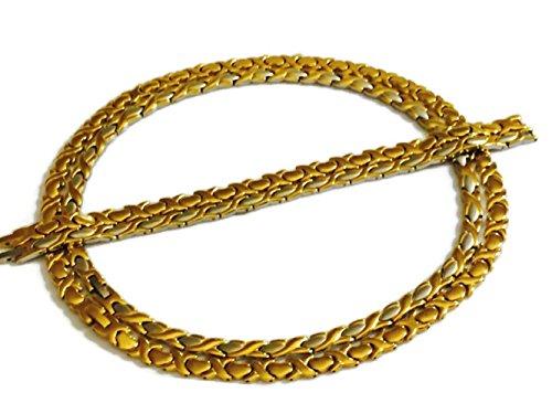 Kisses Stampato Bracelet (Gold & Two Tone Xoxo Hugs & Kisses Necklace and Bracelet Set for Women (2 Sets))