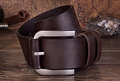 Cliont Mens Classic Pin Buckle Belt Genuine Leather Casual Style Belt