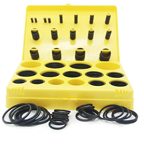 Tuhaoge Baduseal O Ring Kit 377pieces Tools 30SAE Rubber O Ring Assortment O Ring Set O Rings
