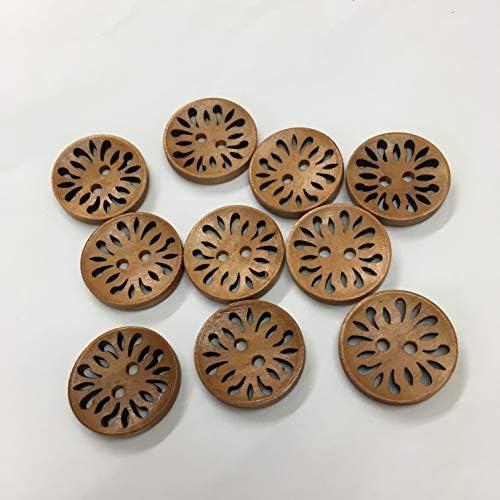 10個入◆ウッドボタン◆22㎜◆2穴◆木のボタン◆手芸◆裁縫材料