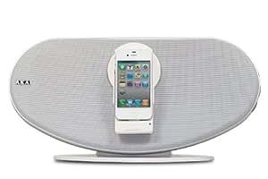 Akai ASB12 - Altavoces (20W, iPad, iPhone, iPod, Color blanco, Corriente alterna, 220 - 240V, 50/60 Hz)