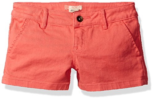 (Roxy Girls' Big' Sunset Clouds Short, Sugar Coral, 8)