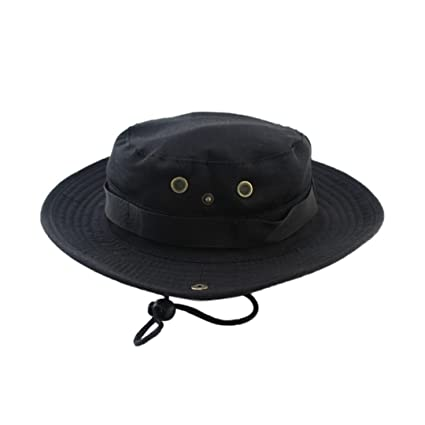 f4afdd0c305 Srogem Accessories Men s Sun Protection Hat UPF 50+ Wide Brim Bucket Hat  Windproof Fishing Beach