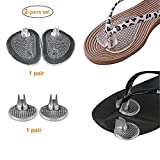 Thong Flip-Flops Sandals Self Stick Cushions Relieve Pain Insoles Antislip Pads (2 Pairs Pack-2 Size)