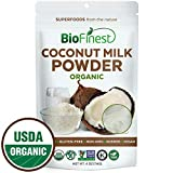 Biofinest Coconut Milk Powder -100% Pure Antioxidants Superfood - USDA Certified Organic Kosher Vegan Raw Non-GMO - Boost Digestion Detox Weight Loss - for Smoothie Beverage (4 oz Resealable Bag)