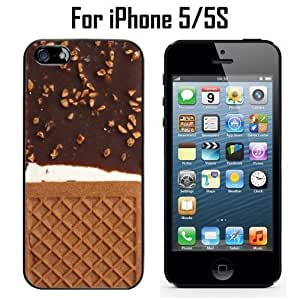 Chocolate Ice Cream Sandwich Custom Case/ Cover/Skin *NEW* Case for Apple iPhone 5/5S - Black - Rubber Case (Ships from CA) Custom Protective Case , Design Case-ATT Verizon T-mobile Sprint ,Friendly Packaging - Slim Case