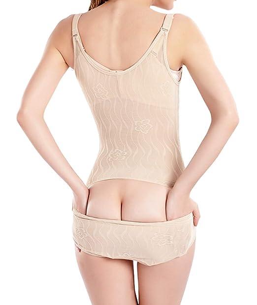 76e9f71861 Jenbou Women s Shapewear Tummy Control Slimming Body Briefer Bodysuit  Adjustable Seamless Body Shaper for Women Nude