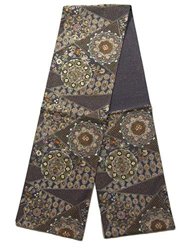 見捨てる金銭的な不透明なリサイクル 袋帯 豪華刺繍 裂取りに華文 正絹 六通