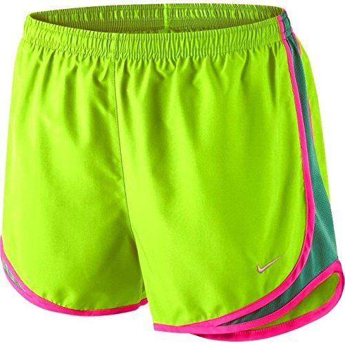 Shorts Flash Basketball - Nike Women's Tempo Short, Flash Lime/Emerald Green/Pink Pow/Matte Silver SM X 3.5