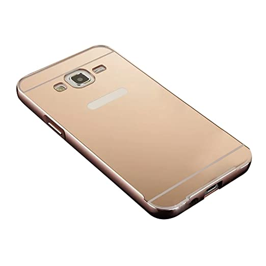 11 opinioni per Skitic Custodia Metal Mirror Case per Samsung Galaxy J5 (2015), Lusso Ultra
