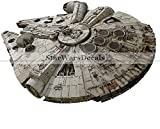 12 Inch Rebel Alliance Millenium Falcon Han Solo Ship Star Wars Classic Episode Iv Removable Wall Decal Sticker Art Home Decor Kids Room-11 3/4 Inches Wide By 8 Inches Tall