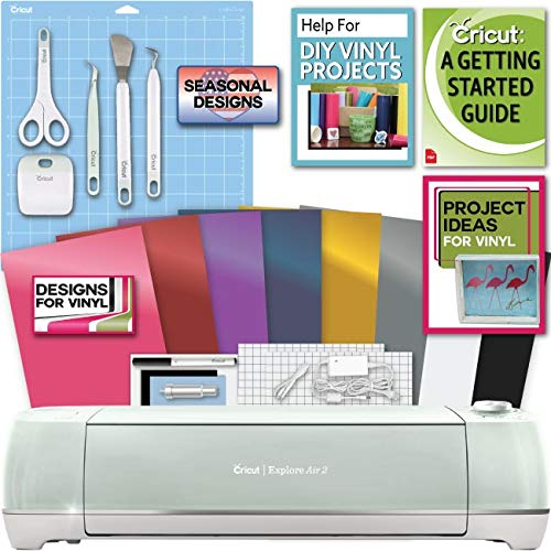 Cricut Explore Air 2 Machine Bundle Beginner Guide, Tool Kit, Vinyl Pack, Designs and Project Inspiration ()
