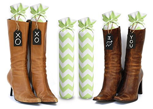 My Boot Trees, Boot Shaper Stands for Closet Organization. Many Patterns to Choose from. 1 Pair (Lime Green Chevron). by My Boot Trees