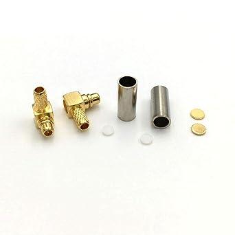 100 SMA Crimp male Plug right angle Solder LMR100 RG316 RG174 Cable RF connector