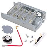 279838 Dryer Heating Element & 279816 Thermostor Kit & 3392519 Thermal Fuse for Whirlpool & Kenmore Dryers