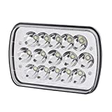 Lampada del riflettore Della lampada del lavoro eDealMax 45W DC 9V-30V 15 LED per l'hotel Sala