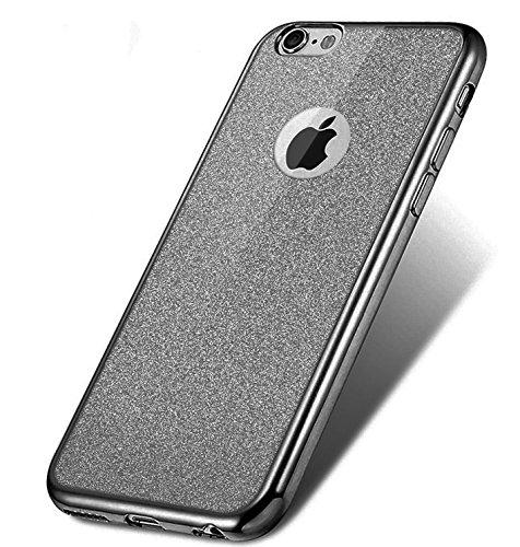 iPhone 7 Hülle Silikon,iPhone 7 Hülle Glitzer,iPhone 7 Crystal TPU Bumper Case Soft Transparent Silikon Gel Schutzhülle Cover,iPhone 7 Hülle (4.7 Zoll) Cristall,EMAXELERS iPhone 7 Bling Cristall Diama S TPU 5