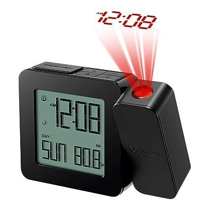 Oregon Scientific RM338PX Relojo con proyección y alarma dual, negro