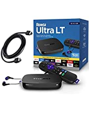 $59 » Roku Ultra LT 4K/HDR/HD Streaming Player with Enhanced Voice Remote, Ethernet, MicroSD with Premium 6FT 4K Ready HDMI Cable (Renewed)