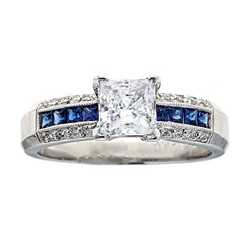 (D'amati Fine Jewelry Tacori Platinum Sapphire & Diamond Engagement Ring)
