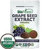 Biofinest Grape seed Extract Powder - 100% Pure Freeze-Dried Antioxidants Superfood - USDA Certified Organic Kosher Vegan Raw Non-GMO - Boost Immunity Skin Health - For Smoothie Beverage Blend (4 oz)