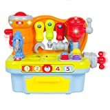 Fu T Engineer Multifunctional Kids Musical Learning Tool Workbench for 1 Year Old to 3 Year Old