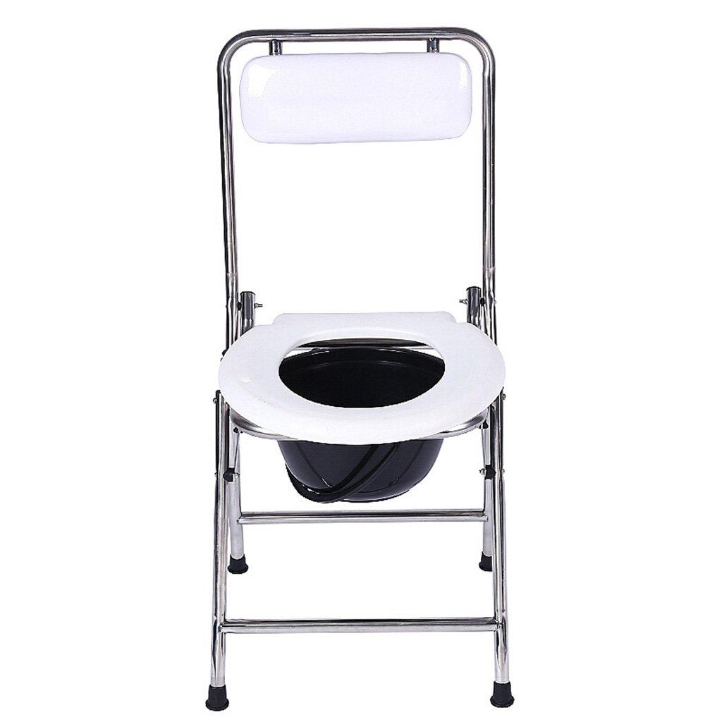GRJH® シャワーチェア、折りたたみ式背もたれ付き滑り止め浴室ステンレススチール製トイレチェア 防水,環境の快適さ   B0799FX7ZB