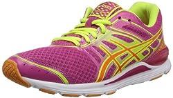 ASICS Women's Gel-Storm Running Shoe,Raspberry/Mango/Flash Yellow,9.5 M US