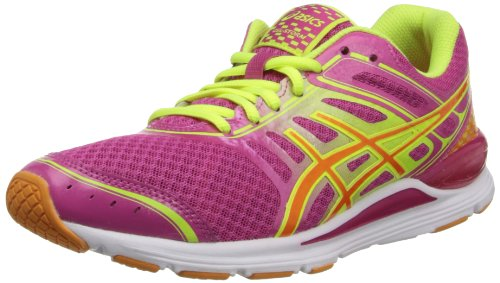 ASICS Women's Gel-Storm Running Shoe,Raspberry/Mango/Flash Yellow,7 M (Raspberry Sport Shoe)