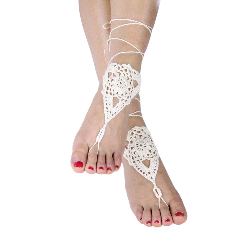 50%OFF Vococal - 1 par Hueco Crochet Sandalias Descalzas Girasol ...