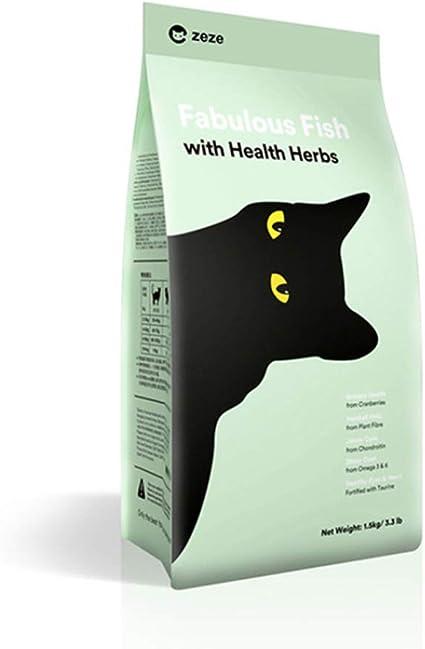 KADISS Adulto Gato Gatito Comida para Gatos Sabor a Pescado Sabor a Pollo Comida para Gatos Comida Básica para Gatos Especial Carne De Pescado Natural Mejora De Receta De 3 kg (Sabor