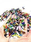 Wayber Colorful Pebbles, 0.9 Lb/410g Opal Glass Sand Rock Crystal Stones for Aquariums/Terrariums/Garden/Flowerpot/Glassware/Vases Decoration (Fills 1&1/8 Cups)